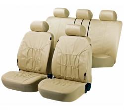 Kunstleder Autositzbezug Nappa Touch beige