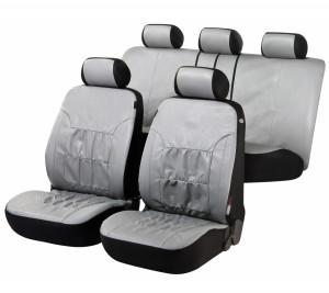 Kunstleder Autositzbezug Nappa Touch grau