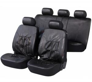 Kunstleder Autositzbezug Nappa Touch schwarz