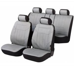 Kunstleder Autositzbezug Soft Nappa grau
