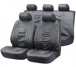 Kunstleder Autositzbezüge Raphael grau
